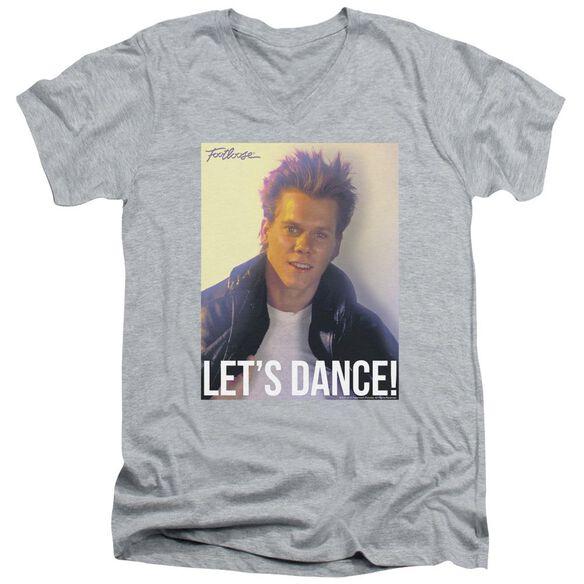 Footloose Lets Dance Short Sleeve Adult V Neck Athletic T-Shirt