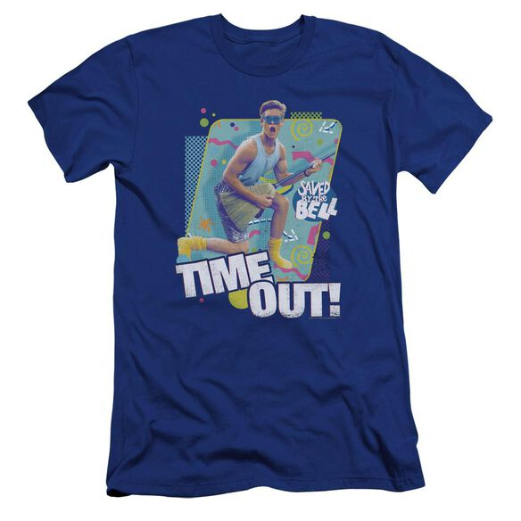 Saved By The Bell Time Out Premuim Canvas Adult Slim Fit Royal