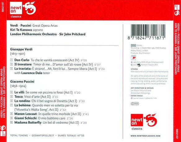 Verdi, Puccini Arias 0583