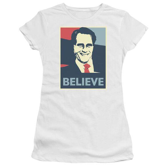 Believe Short Sleeve Junior Sheer T-Shirt