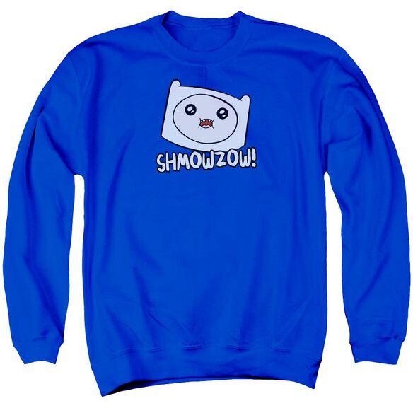 Adventure Time Shmowzow Adult Crewneck Sweatshirt Royal