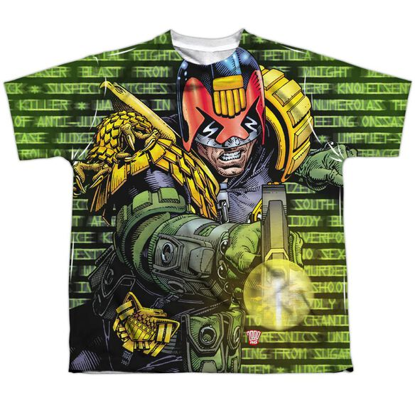 Judge Dredd Matrix Short Sleeve Youth Poly Crew T-Shirt