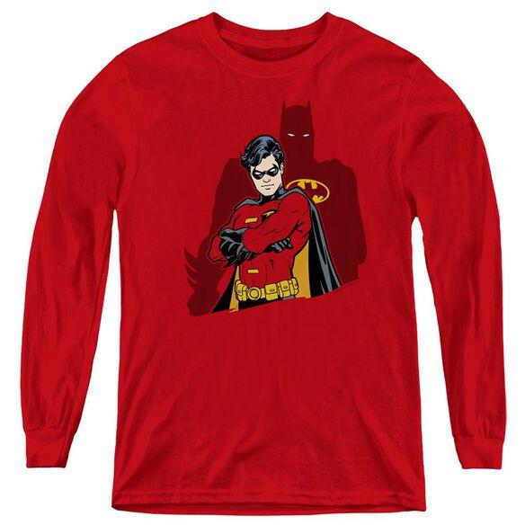 Batman Wingman - Youth Long Sleeve Tee - Red