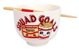 Maruchan Squad Goals Ramen Bowl and Chopsticks set