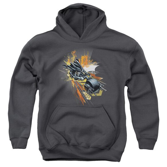 Dark Knight Rises Batpod Youth Pull Over Hoodie