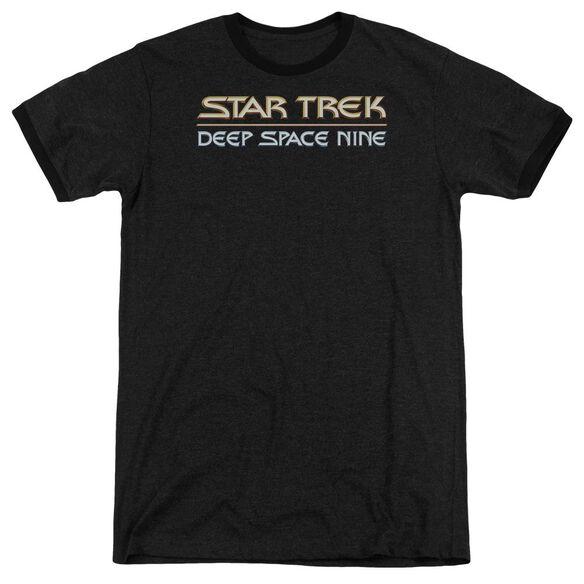 Star Trek Deep Space Nine Logo Adult Heather Ringer