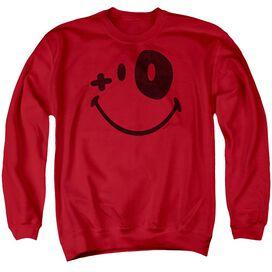 Smiley World Fight Club Adult Crewneck Sweatshirt