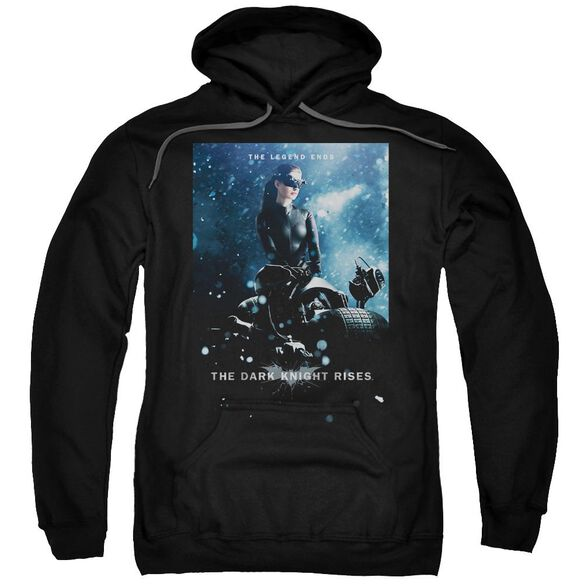 Dark Knight Rises Catwoman Poster Adult Pull Over Hoodie