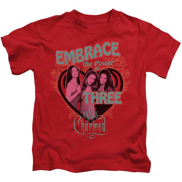 Charmed Embrace The Power Short Sleeve Juvenile Red T-Shirt