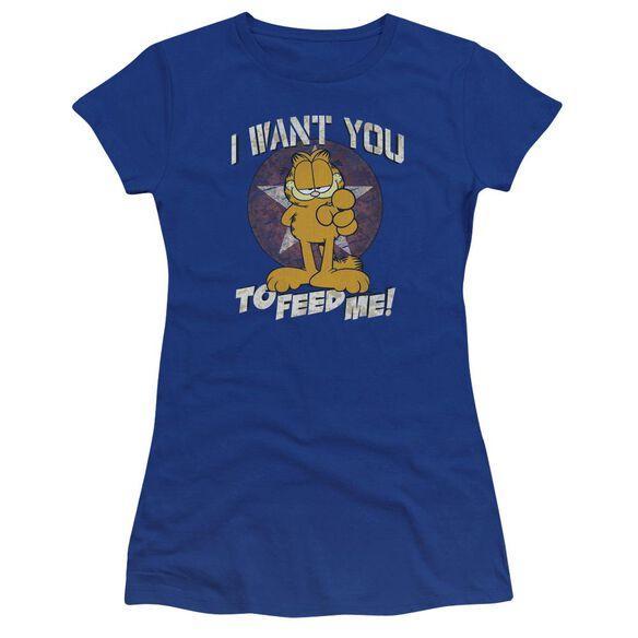 Garfield I Want You Premium Bella Junior Sheer Jersey Royal