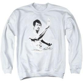 Bruce Lee Serenity - Adult Crewneck Sweatshirt - White