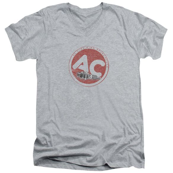 Ac Delco Ac Circle Short Sleeve Adult V Neck Athletic T-Shirt
