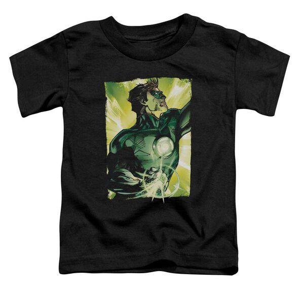 Green Lantern Up Up Short Sleeve Toddler Tee Black T-Shirt