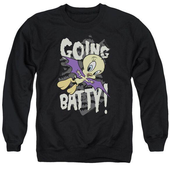 Looney Tunes Going Batty Adult Crewneck Sweatshirt