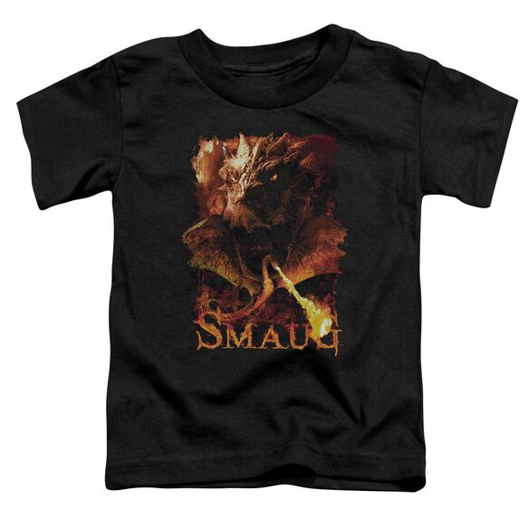 Hobbit Smolder Short Sleeve Toddler Tee Black T-Shirt
