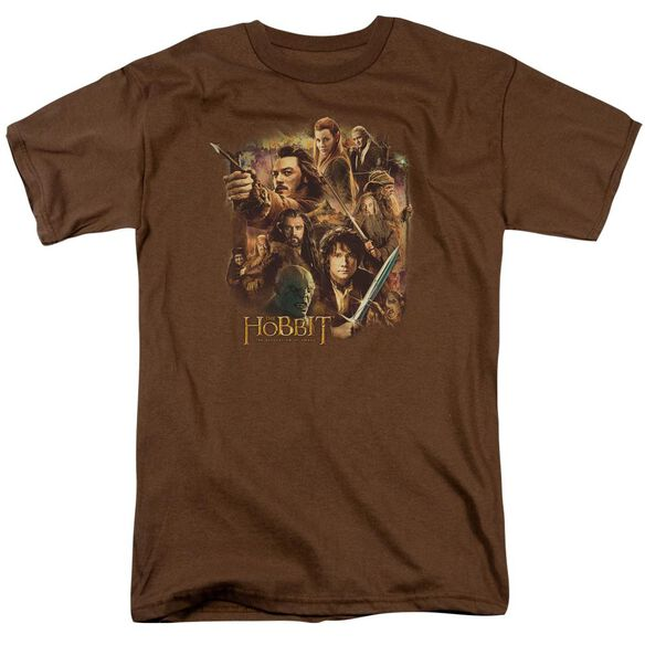 Hobbit Middle Earth Group Short Sleeve Adult Coffee T-Shirt