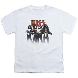 Kiss Throwback Pose Short Sleeve Youth T-Shirt