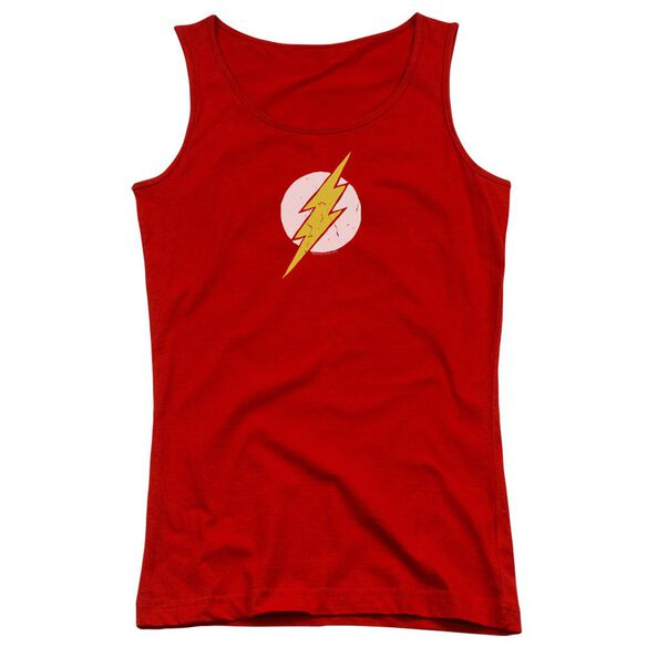 Jla Rough Flash Juniors Tank Top