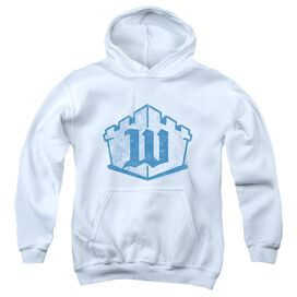 White Castle Monogram-youth Pull-over Hoodie - White