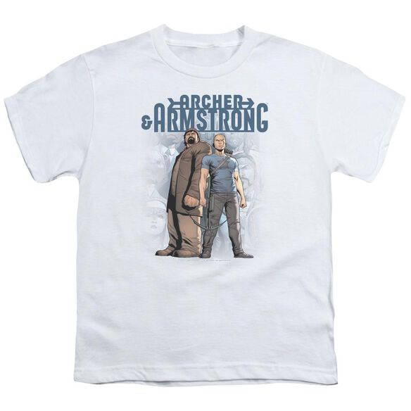 Archer & Armstrong Two Against All Short Sleeve Youth T-Shirt
