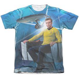 Star Trek Kirks Ship Adult Poly Cotton Short Sleeve Tee T-Shirt
