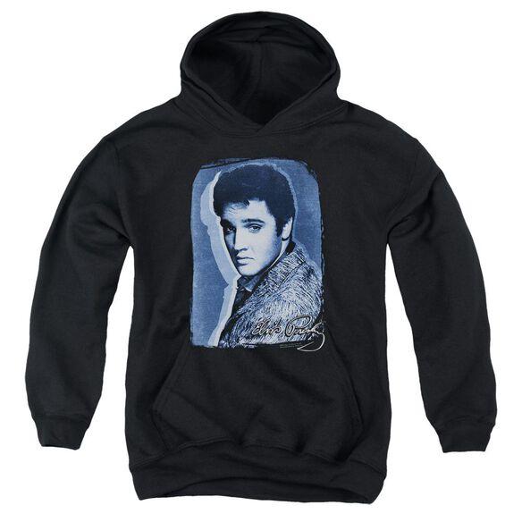 Elvis Presley Overlay Youth Pull Over Hoodie