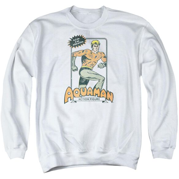 Dc Am Action Figure Adult Crewneck Sweatshirt