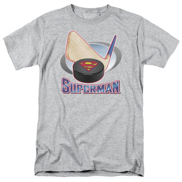SUPERMAN HOCKEY STICK - S/S ADULT 18/1 - ATHLETIC HEATHER T-Shirt