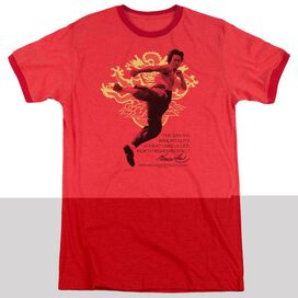 BRUCE LEE IMMORTAL DRAGON - ADULT HEATHER RINGER - RED