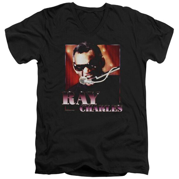 Ray Charles Sing It Short Sleeve Adult V Neck T-Shirt