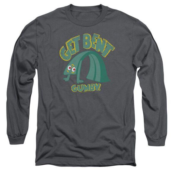 GUMBY GET BENT - L/S ADULT 18/1 - CHARCOAL T-Shirt