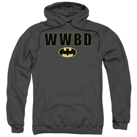 Batman Wwbd Logo Adult Pull Over Hoodie