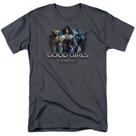 Injustice Gods Among Us Good Girls Short Sleeve Adult Charcoal T-Shirt