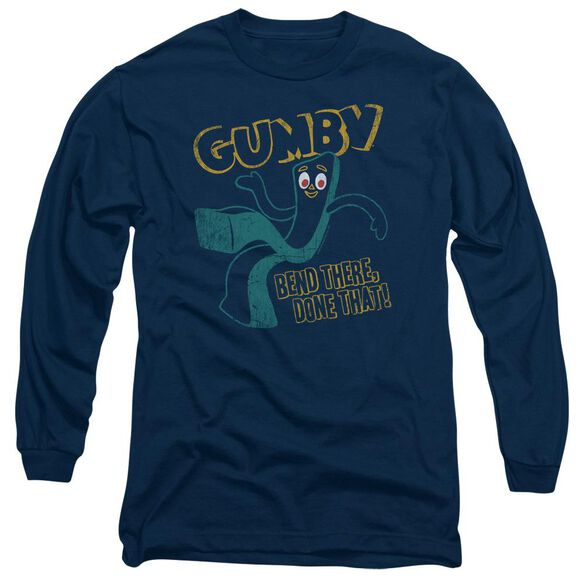Gumby Bend There Long Sleeve Adult T-Shirt