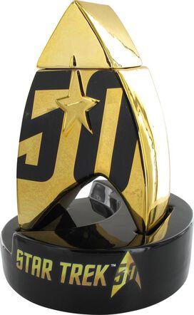 Star Trek 50th Anniversary Logo Lidded Ceramic Jar