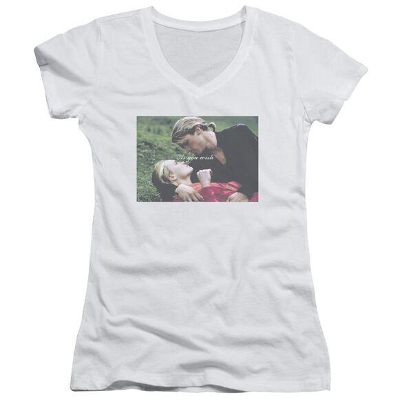 Princess Bride As You Wish Junior V Neck T-Shirt