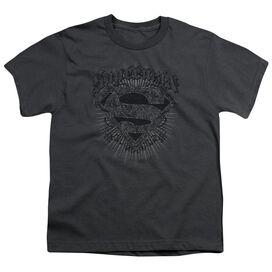 Superman Scrolling Shield Short Sleeve Youth T-Shirt