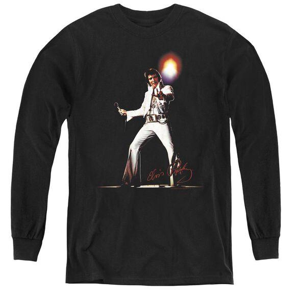Elvis Presley Glorious - Youth Long Sleeve Tee - Black