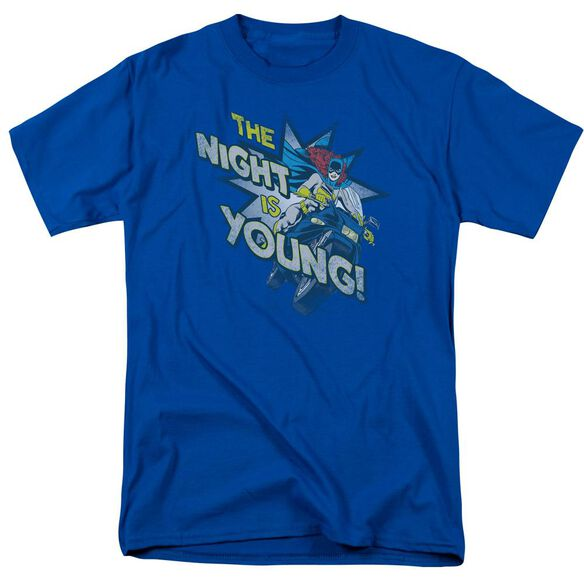 Dc The Night Is Young Short Sleeve Adult Royal T-Shirt
