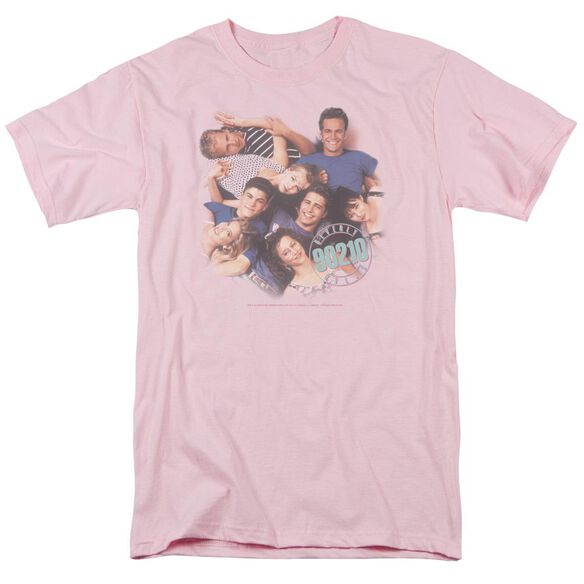 90210 GANG IN LOGO - S/S ADULT 18/1 - PINK T-Shirt