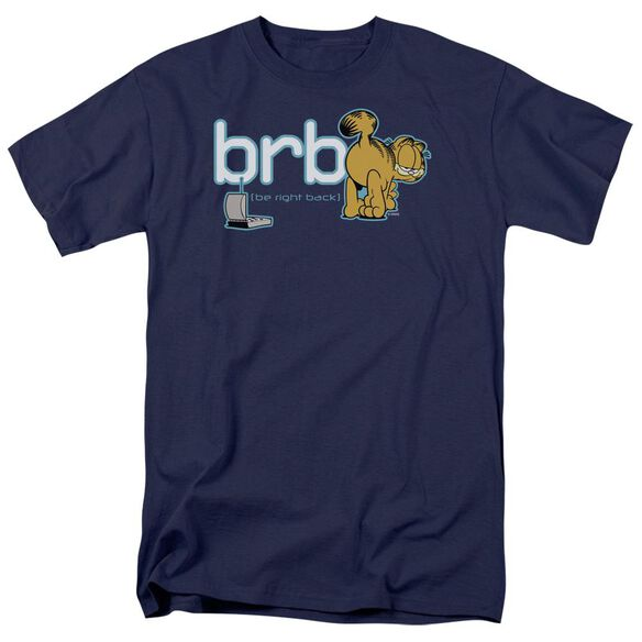 GARFIELD BE RIGHT BACK - S/S ADULT 18/1 - NAVY T-Shirt