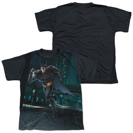 Beware The Batman Run Short Sleeve Youth Front Black Back T-Shirt