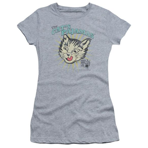 Puss N Boots Cats Pajamas Short Sleeve Junior Sheer Athletic T-Shirt