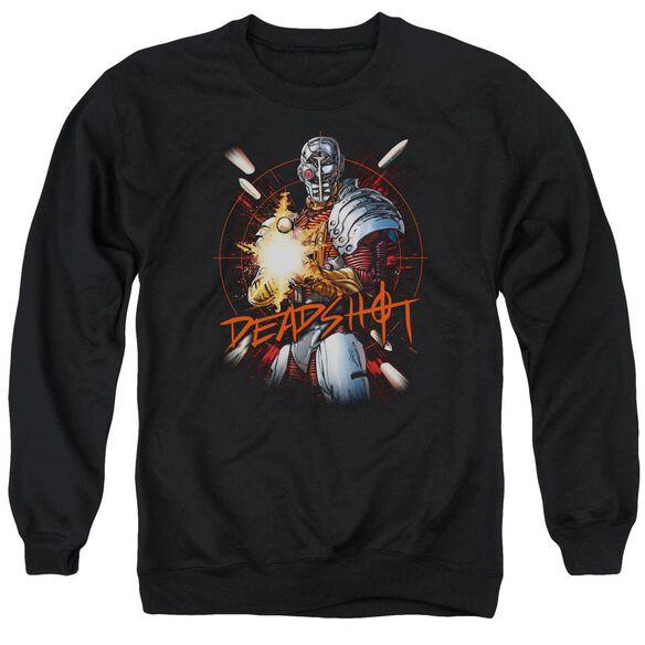 Jla Deadshot Adult Crewneck Sweatshirt