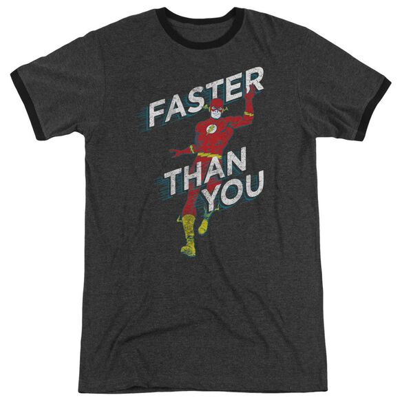 Dc Faster Than You Adult Heather Ringer Charcoal