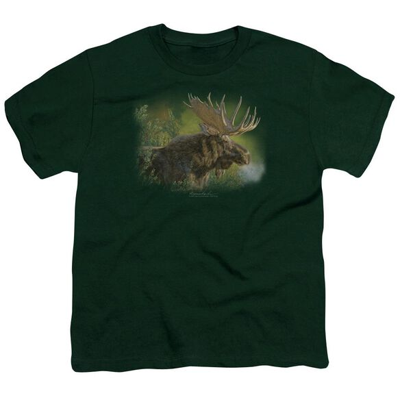 Wildlife Crisp Fall Morning Short Sleeve Youth Hunter T-Shirt