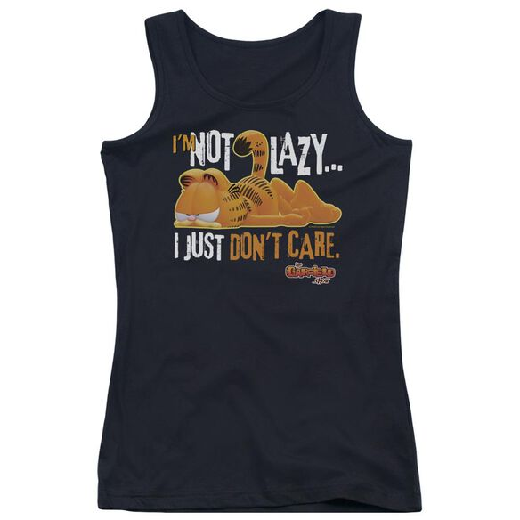 Garfield Not Lazy Juniors Tank Top