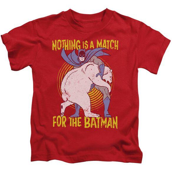 Batman Bear Wrastling Short Sleeve Juvenile T-Shirt