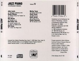 Various Artists - Smithsonian Collection of Jazz Piano, Vol. 4