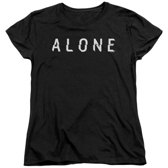 Alone Alone Logo Short Sleeve Womens Tee T-Shirt